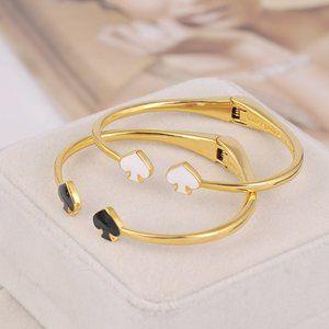 Kate Spade Black And White Heart Bracelet